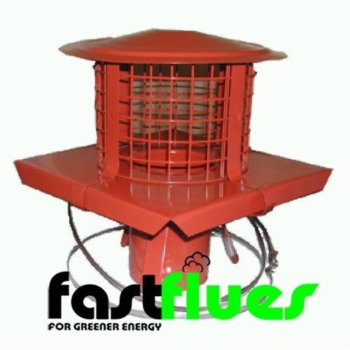 Flue Liner  SQ Pot Hanger With Cowl  Mesh Terracotta x Ø 125 mm 5 Inch