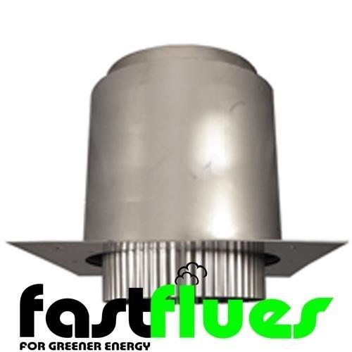 Flue Liner Register Plate Adaptor Top Hat 125mm 5 Inch