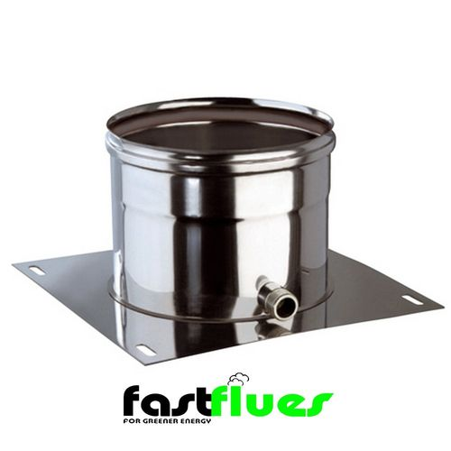 Single Wall  Base Support with Side Drain - 100 mm 4 Inch