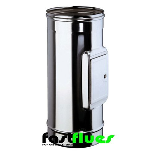 Single Wall  Flue with Clean Out Door - 100 mm 4 Inch