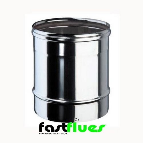 Single wall  Flue Pipe 250 mm - 100 mm 4 Inch