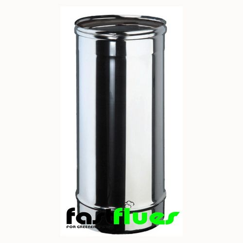 Single wall  Flue Pipe 500 mm - 100 mm 4 Inch