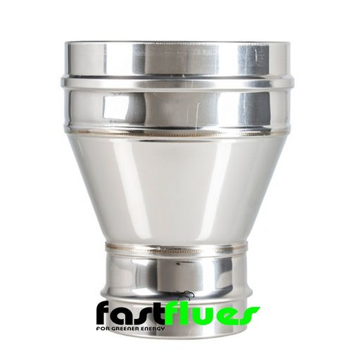 Single Wall to Single Wall  Flue Increaser - 100 mm to 130 mm 4 - 5 Inch