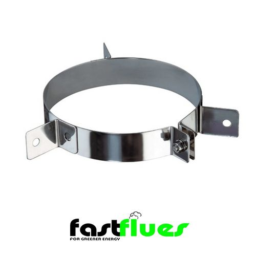 Single wall  Flue Guy Wire Bracket - 250 mm 10 Inch