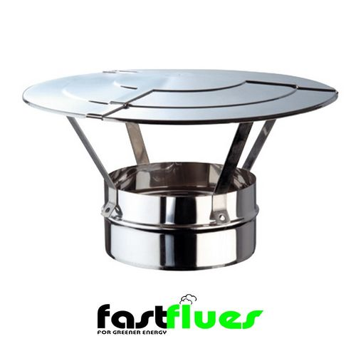 Single Wall  Flue Raincap - 250 mm 10 Inch