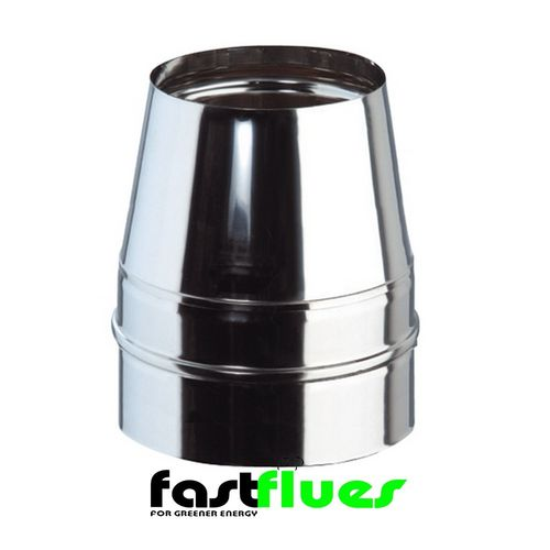Single Wall  Flue Open Terminal - 300 mm 12 Inch
