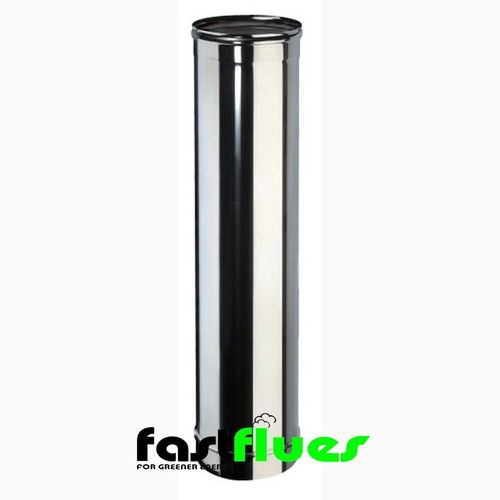 Single wall  Flue 1000mm Flue Pipe - 300 mm 12 Inch