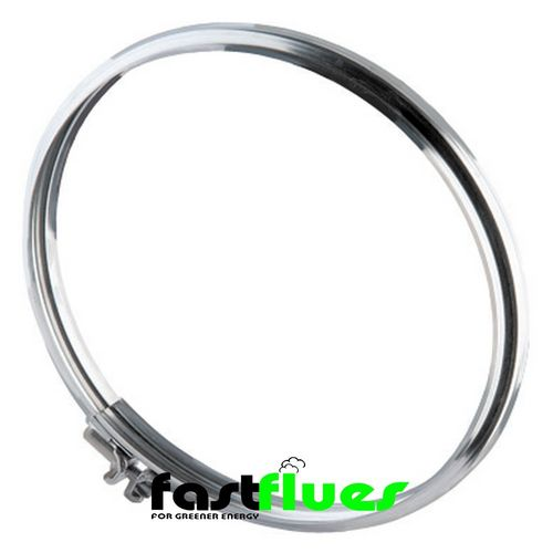 Single Wall  Flue Locking Band - 300 mm 12 Inch