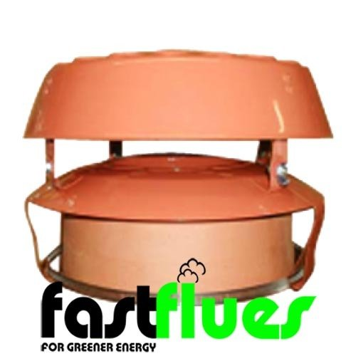 Flue Liner Pot Hanger With AD Cowl Terracotta x Ø 200 mm 8 Inch