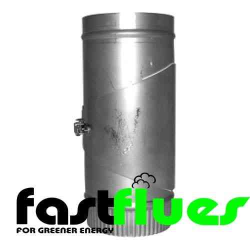 Stainless Steel 300mm Flue Pipe With Clean Out Door - Ø 125 mm 5 Inch