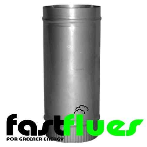 Stainless Steel 500mm Flue Pipe - Ø 150 mm 6 Inch