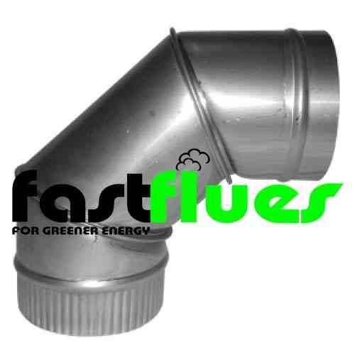 Stainless Steel 90 Deg Elbow - Ø 200 mm 8 Inch