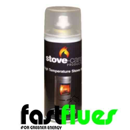 Stovebright High Temp Spray Paint - flat black 6304