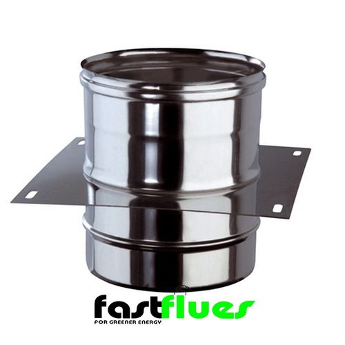 Single Wall  Flue Console Plate - 100 mm 4 Inch