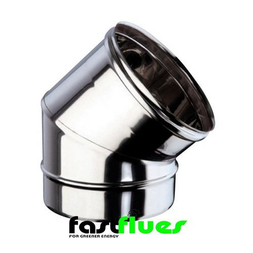 Single wall  Flue 45 Deg Elbow - 100 mm 4 Inch