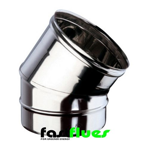 Single wall  Flue 30 Deg Elbow - 100 mm 4 Inch