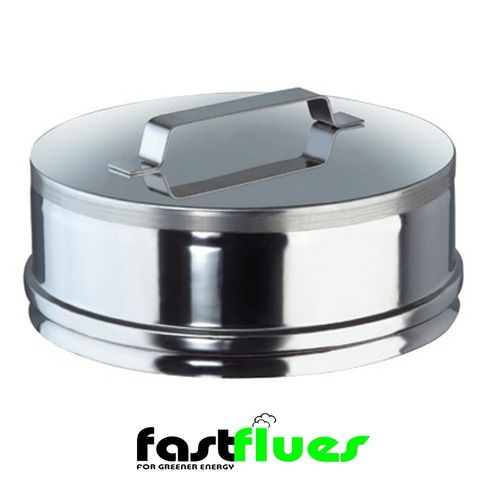 Single Wall  Flue End Cap - 100 mm 4 Inch