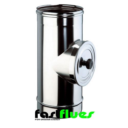 Single Wall  Flue Pipe With inspection Door - 100 mm 4 Inch