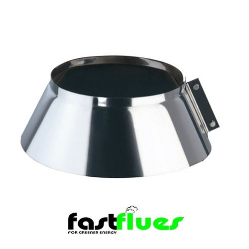 Single wall  Flue Storm Collar - 130 mm 4 Inch