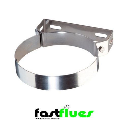 Single wall  Flue Standard Wall Bracket - 130 mm 4 Inch