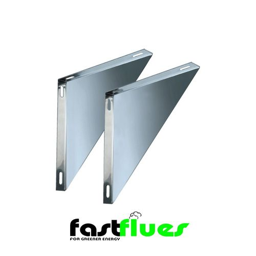 Single Wall Flue Console Plate / Base Support Side Brackets - 175 mm 7 Inch